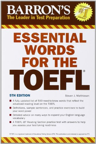 Essential Words for the TOEFL (Barron's Essential Words for the TOEFL) - Steven J. Matthiesen