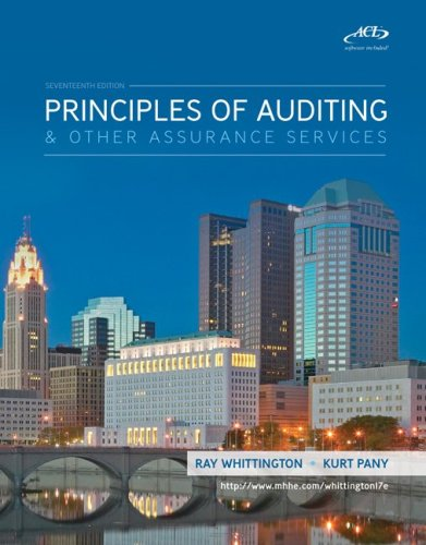 Principles of Auditing  &  Assurance Services with ACL Software CD - Ray Whittington; Kurt Pany