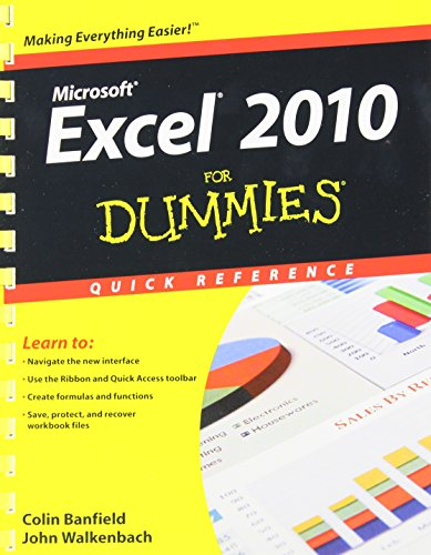 Excel 2010 For Dummies Quick Reference - Colin Banfield; John Walkenbach