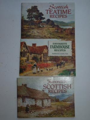 Favourite Scottish Recipes + Favorite Farmhouse recipes + Scottish Teatime recipes (Kochbuch  , Schottland) - Gregory/Mathie RARITÄT Buchpaket