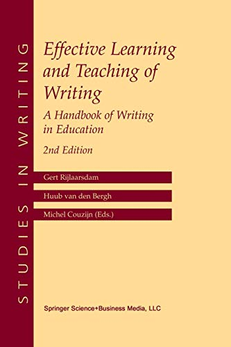 Effective Learning and Teaching of Writing - Gert Rijlaarsdam