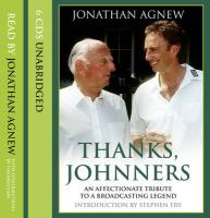 Thanks, Johnners - Agnew, Jonathan