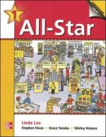 All-Star - Book 1 (Beginning) - Student Book W/ Audio Highlights - Lee Linda; Bernard Jean; Sherman Kristin