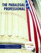The Paralegal Professional - Goldman, Thomas F.; Cheeseman, Henry R.