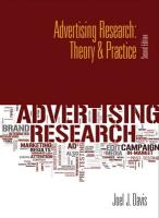 Advertising Research: Theory & Practice - Davis, Joel