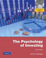 Psychology of Investing - Nofsinger, John