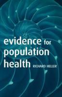 Evidence for Population Health - Heller, Richard F.