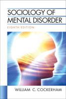 Sociology of Mental Disorder - Cockerham, William C.