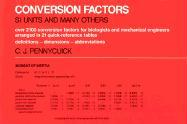 Conversion Factors Conversion Factors Conversion Factors: S. I. Units and Many Others S. I. Units and Many Others S. I. Units and Many Others - Pennycuick, C. J.; Pennycuick, Colin J.