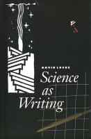 Science as Writing - Locke, David