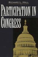 Participation in Congress - Hall, Richard L.
