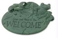 Frog Welcome Garden Plaque - Zondervan Publishing