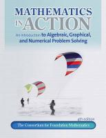 Mathematics in Action: An Introduction to Algebraic, Graphical, and Numerical Problem Solving - Consortium for Foundation Mathematics
