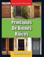 Principios de Bienes Raices/Real Estate Principles - Felde, Thomas