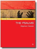 SCM Studyguide to the Psalms - Dawes, Stephen B.