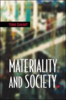 Discourse and Material Culture - Dant; Dant, Tim