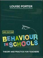 Behaviour in Schools - Porter, Louise