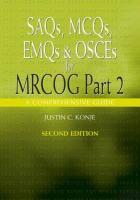 Saqs, McQs, Emqs and Osces for Mrcog Part 2 - Konje, Justin C.