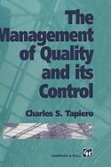 Management of Quality and Its Control - Tapiero, Charles S.; Tapiero, C.