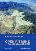 Open Pit Mine Planning and Design, 2nd Edition, Pack: V1: Fundamentals, V2: Csmine Software Package, CD-ROM: CS Mine Software - Hustrulid, Willam; Kuchta, Mark; Hustrulid, William A.