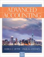 Advanced Accounting - Jeter, Debra C.; Chaney, Paul K.