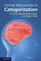 Formal Approaches in Categorization