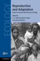 Reproduction and Adaptation: Topics in Human Reproductive Ecology