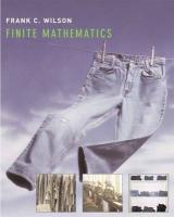 Finite Mathematics - Wilson, Frank C.; Wilson, Leslie