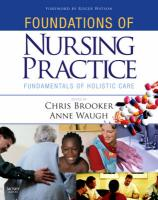 Foundations of Nursing Practice - Brooker, Christine
