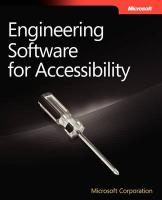 Engineering Software for Accessibility - Microsoft Corporation; Microsoft Corporation