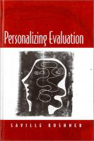 Personalizing Evaluation - Kushner, Saville