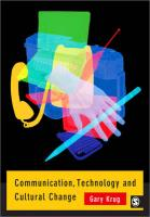 Communication, Technology and Cultural Change - Krug, Gary J.