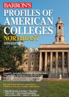 Barron's Profiles of American Colleges, Northeast: Regional Edition