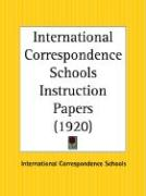International Correspondence Schools Instruction Papers