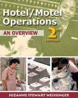Hotel/Motel Operations: An Overview - Weissinger, Suzanne Stewart