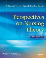 Perspectives on Nursing Theory - Reed, Pamela G.; Shearer, Nelma C.