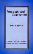 Freedom and Community - Simon, Yves Rene Marie
