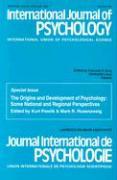 International Journal of Psychology: International Union OS Psychological Science