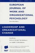 Leadership and Organizational Change: A Special Issue of the European Journal of Work and Organizational Psychology - Shruijer, S.