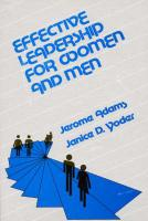 Effective Leadership for Women and Men - Adams, Jerome; Yoder, Janice D.; Unknown