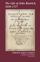 The Life of John Rastrick, 1650 1727 - Rastrick, John