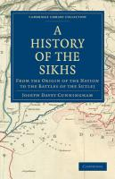 A History of the Sikhs - Cunningham, Joseph Davey