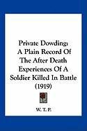 Private Dowding: A Plain Record of the After Death Experiences of a Soldier Killed in Battle (1919) - W. T. P. , T. P.