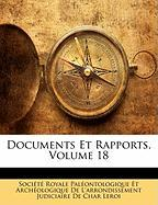 Documents Et Rapports, Volume 18