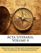 ACTA Literaria, Volume 4