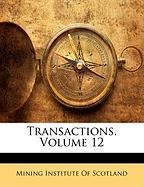 Transactions, Volume 12