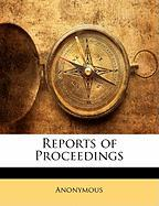 Reports of Proceedings - Anonymous