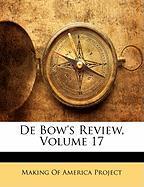 de Bow's Review, Volume 17