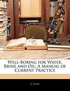 Well-Boring for Water, Brine and Oil: A Manual of Current Practice - Isler, C.