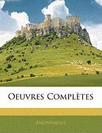 Oeuvres Compltes - Anonymous